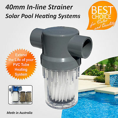 Inline Filter / Strainer Cartridge / Canister for Solar Pool Heating Systems