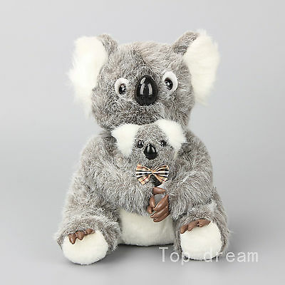 Realistic Koala Bear with Baby Soft Cuddly Plush Toy Stuffed Aniaml Doll 10''