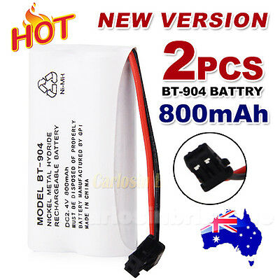 2x 800MAH 2.4V Cordless Phone For Uniden Battery BT-904 BT-904S BT802 Ni-MH
