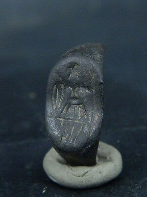 Ancient Bronze Seal Ring Bactrian 300 BC  #B1523