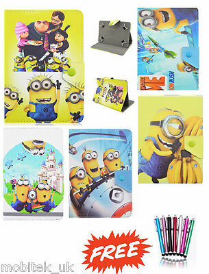 """Despicable Me Universal Leather Stand Case Cover 9"""" 10"""" Tab Android Tablet New"""