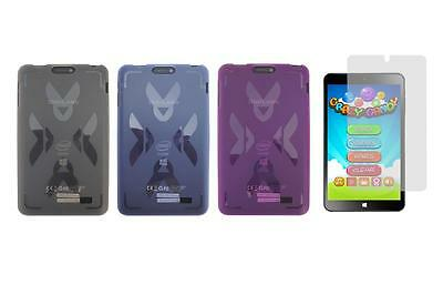 """TPU Gel Skin Cover Case and Screen Protector for DigiLand DL808W 8"""" Tablet"""