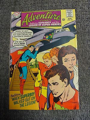 "Adventure Comics #371 (1968) ""When Superboy Walked Out On the Legion!"" * DC *"
