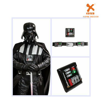 XCOSER Darth Vader Belt with Led Lights Movie Star Wars Cosplay Prop Chest Plate