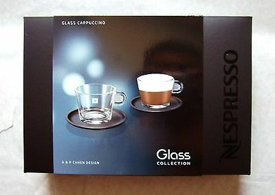 Nespresso Glass Collection - Glass Cappuccino Cup & Saucer Set