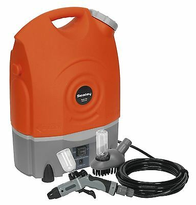 New Sealey PW1712 Rechargeable 12v Jet Pressure Washer Car Caravan Boat
