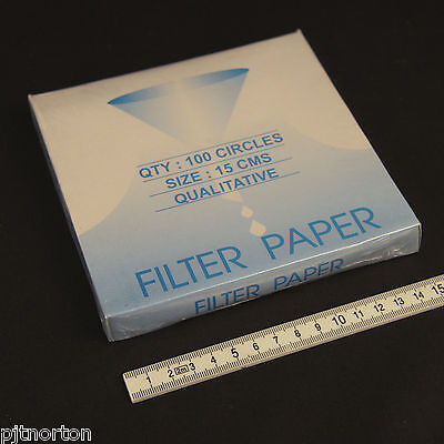 Filter paper 15cm 150mm diameter Qualitative laboratory chemistry use NEW circle