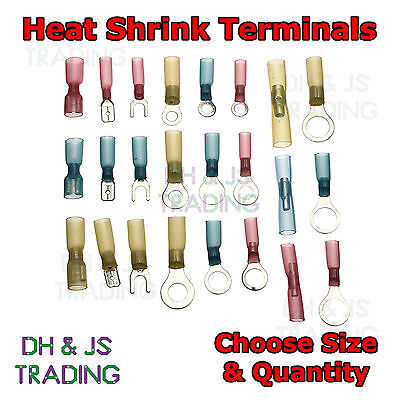 Heat shrink Terminals Heatshrink Ring Spade Bullet Fork Butt All Terminal Type