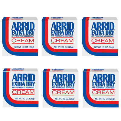 Arrid Extra Dry Anti-Perspirant & Deodorant Cream - 1 oz (Pack of 6)