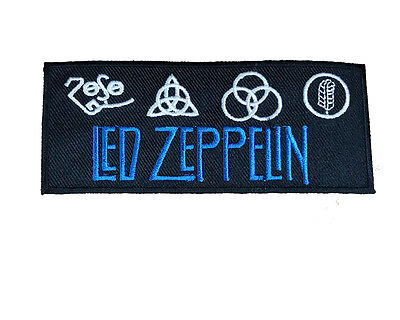 LED ZEPPELIN Embroidered Iron On or Sew On Patch UK SELLER Patches