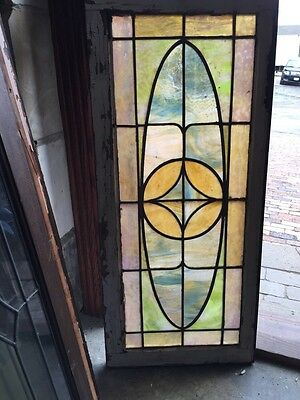 Sg 375 Antique Kaleidoscope Of Colors Transom Window
