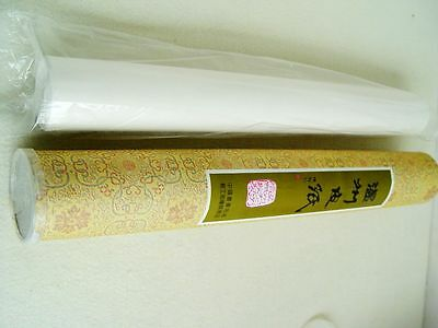 1PC Wenzhou Rice Paper Mulberry Bark Fiber Roll(46cmx25M)Painting Calligraphy