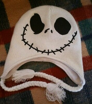 18b2a6fd63b Disney Nightmare Before Christmas Jack Skellington Flip-Down Beanie Hat