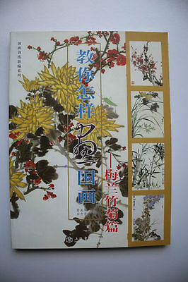 Brush Ink Painting Sumi-e Book How To Plum Blossoms Orchid Bamboo Chrysanthemum