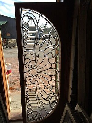 Sg 293 Amazing Zinger Beveled Glass Arched Transom Antique
