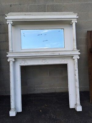 Fpa Cm 15 Antique White Painted Decorative Oak Fireplace Mantle