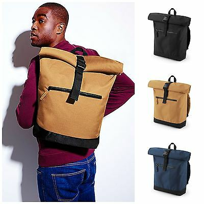 """Bagbase Roll Top Backpack Rucksack - Laptop compatible up to 15.6""""."""