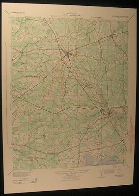 Millsboro Delaware Indian River 1944 vintage USGS original Topo chart map