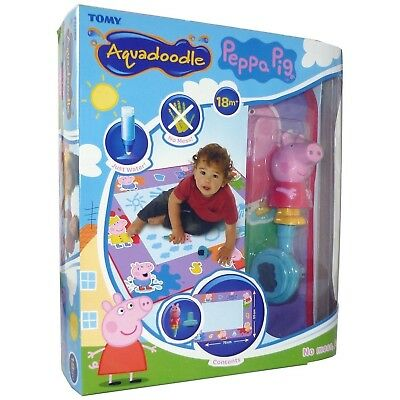Tomy 72034 Peppa Pig Aquadoodle Water Drawing Large Mat includes Pen & Stamp New