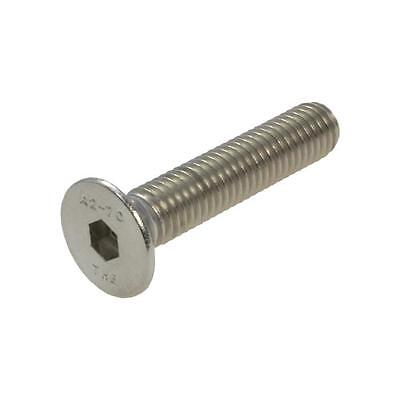 Qty 5 Countersunk Head Socket M6 (6mm) x 50mm Stainless Screw 304 CSK Flat