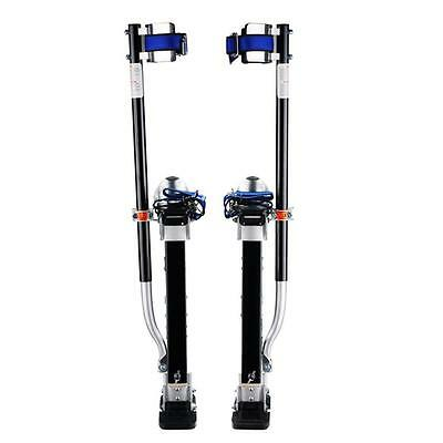 18 In. to 30 In. Adjustable Height Black/Silver Drywall Painting Cleaning Stilts
