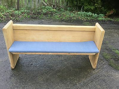 Pine Long Bench/pew With Cushion
