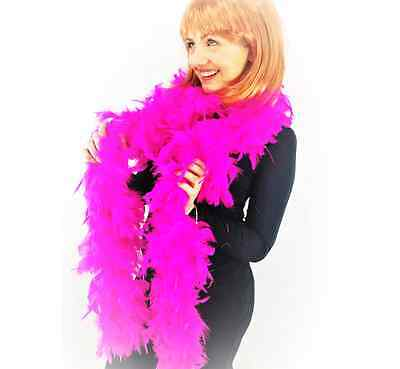 85G High Quality Thick Hot Pink Feather Boa Fancy Dress Luxury Burlesque 1.9M