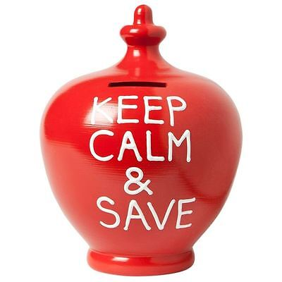 Terramundi Original Money Pot Red with Keep Calm and Save written in White