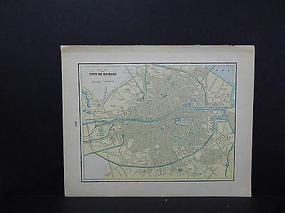 Map, City of Dublin, Ireland Double-Sided S2#04