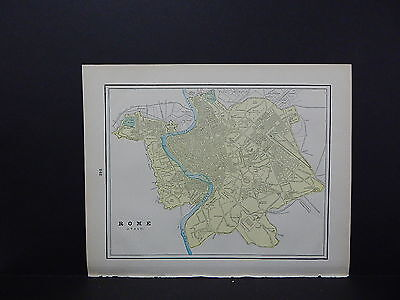 Map, City of Rome, Italy Double-Sided S2#05