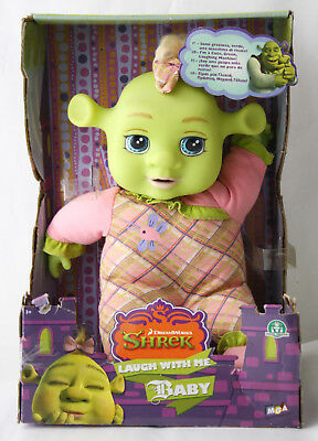 "Very Rare 2007 Shrek The Third Laugh With Me Baby 13"" Laughing Doll New Mib"