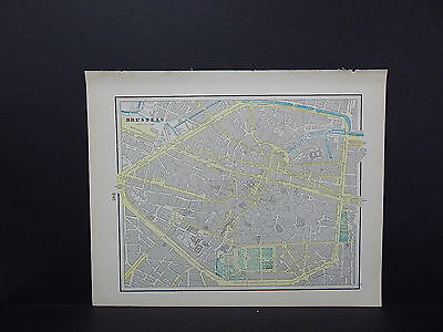 Brussels Belgium or Berlin Map Double-Sided W18#75