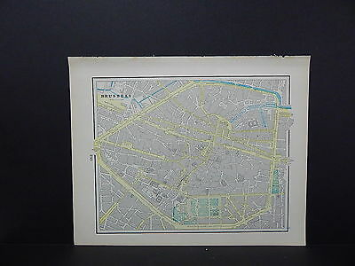 Map, City of Brussels, Belgium Double-Sided S2#08