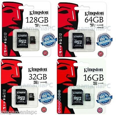 Tarjeta Memoria Micro Sd Kingston Original 16Gb 32Gb 64Gb 128Gb Microsd Hc/xc
