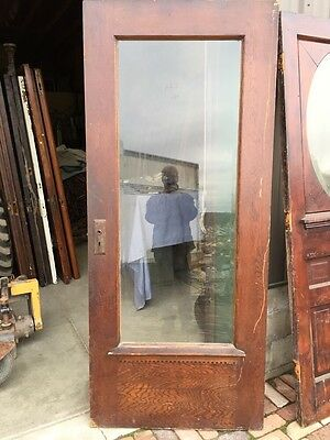 At 2 Antique Full View Park Avenue Beveled Glass Entrance Door