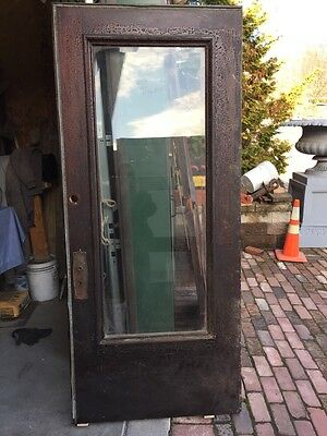 A R 6 Antique Oak Beveled Glass Entrance Door