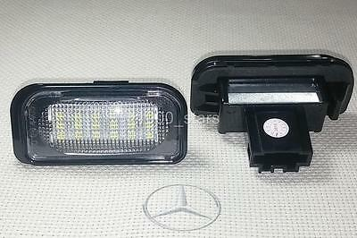 2x LED LICENSE NUMBER PLATE LIGHT MERCEDES BENZ W203 4D CANBUS MATRICULA TARGA