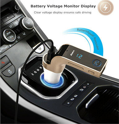 Bluetooth Handsfree Car Kit MP3 FM SD Dual USB Charger for Smart Phone Cellphone