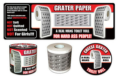 Novelty Bathroom Toilet Loo Paper Roll Tissue Game Cheese Grater Fun Gift Joke