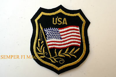 Usa Badge Patch America Old Glory American Flag Star Spangled Banner 'murica Us