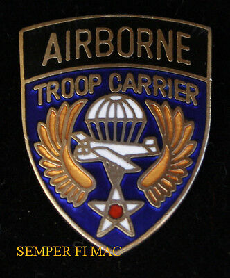 Airborne Ix Troop Carrier Command Hat Lapel Pin Badge Wwii Us Army Air Corps