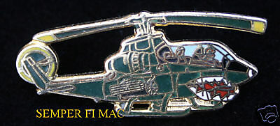 AH-1 SUPER COBRA HAT LAPEL PIN US MARINES ATTACK HELICOPTER USS FMF MAW MAG GIFT