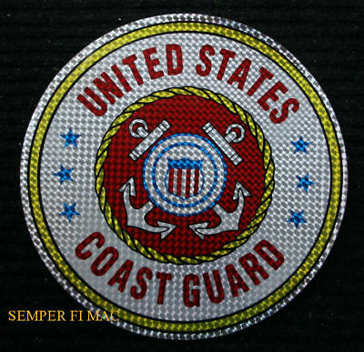 XXL US COAST GUARD 12 inch STICKER DECAL MADE IN US USCG LOGO SEAL VETERAN GIFT