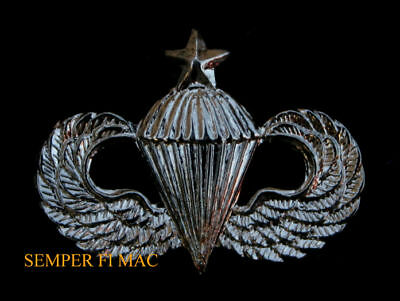 Mini Us Army Senior Paratrooper Wing Hat Pin Wow
