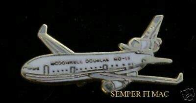 Md-11 Mcdonnell Douglas Jet Hat Pin Long Beach Airliner