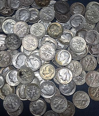 $1 Face Of Roosevelt Silver Dimes US COIN 90% Silver Lot (1946-64 ) UNC-AU-BU-G