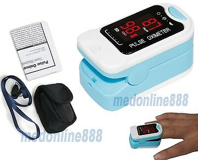 With pouch Finger Tip Pulse Oximeter Blood Oxygen Meter SPO2 Saturation PR LED