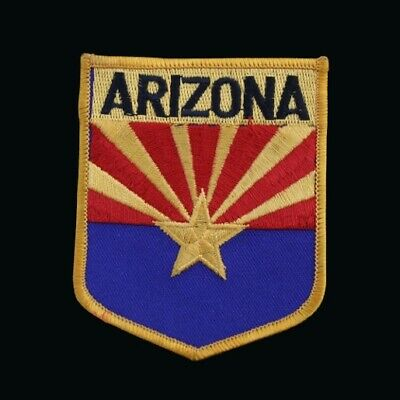 Arizona Grand Canyon State Collector Shield Patch Embroidered Copper State