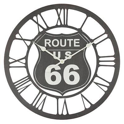 "Extra Large Route 66 Retro Shabby Chic Wall Clock. 60cm Diameter (23"" +) C.2067"
