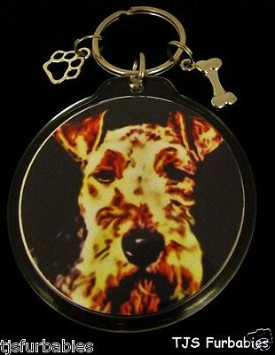 Lakeland Terrier Dog Keychain Key chain Double Sided Charms-SHIPS FREE!